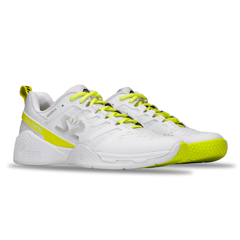 Damen Hallenschuhe Salming Kobra 3 Women White/Fluo Green