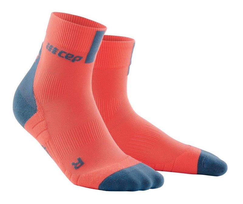 Damen Laufsocken CEP 3.0 orange-grau