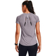 Damen T-Shirt Under Armour Qualifier ISO-Chill schiefer lila