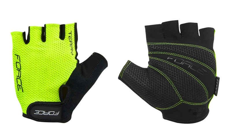 Fahrradhandschuhe  Force Terry fluo