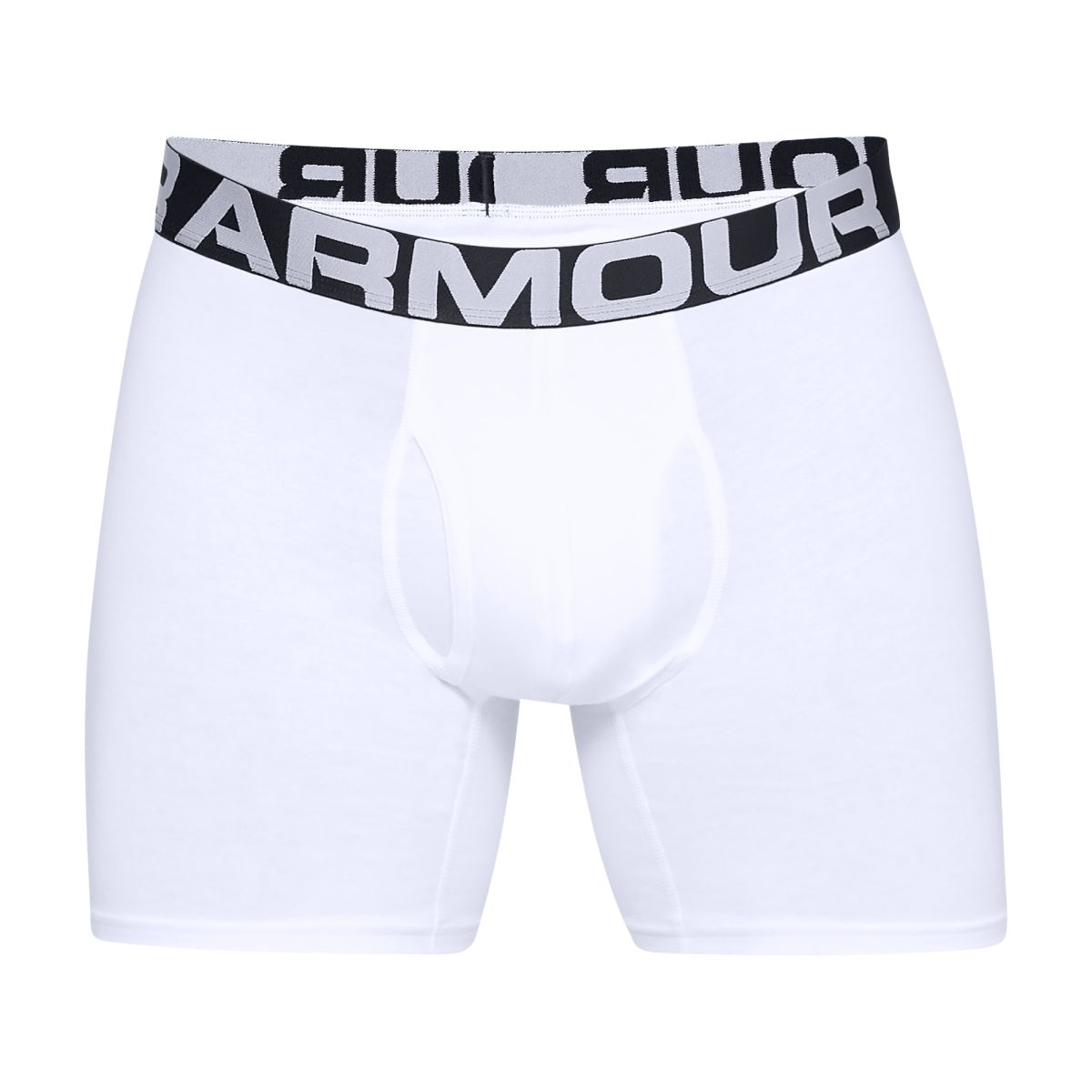 """Herren Boxershorts Under Armour Charged Cotton 6"""" 3 Pack White"""