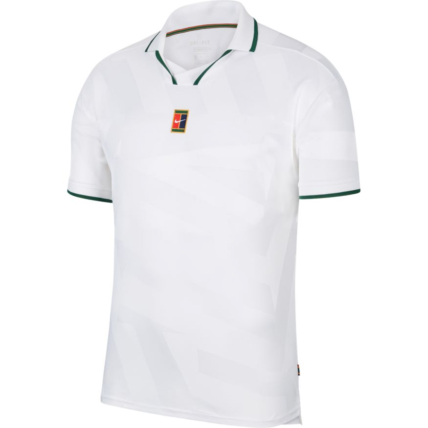 Herren T-Shirt Nike Court Breathe Slam Polo White