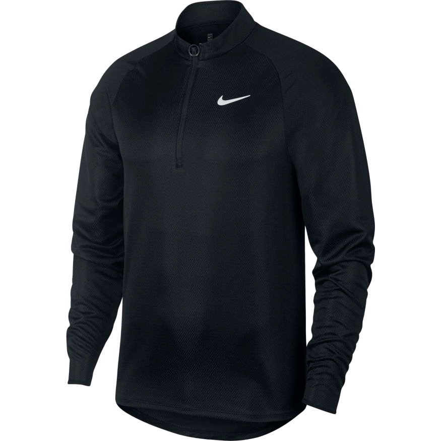 Herren T-Shirt  Nike Court Challenger Top LS Black
