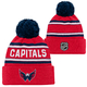 Kinder Mütze Outerstuff JACQUARD Cuffed Knit With Pom NHL Washington Capitals