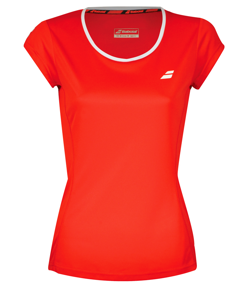 Kinder T-Shirt Babolat Core Flag Club Tee Red