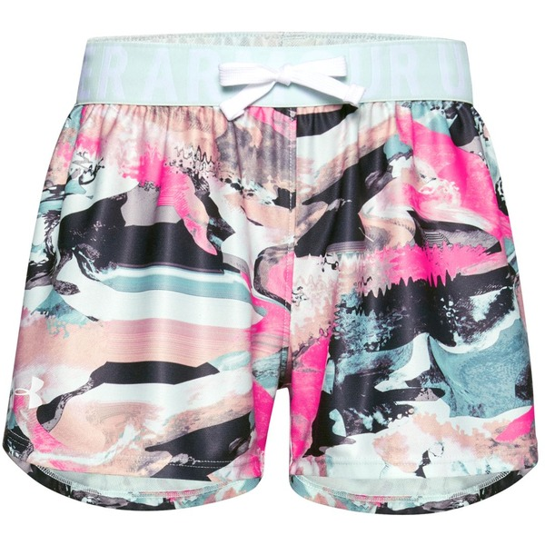 Mädchen Shorts Under Armour Play Up Printed Shorts blau