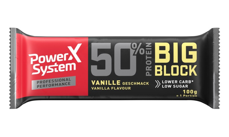 Proteinriegel Power System Big Block 50% Vanilla Bar 100 g