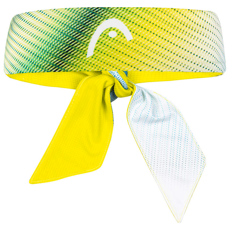 Stirnband Head  Bandana Yellow/Blue/White