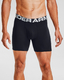 """Under Armour Charged Cotton 6"""" 3 Pack Black Under Armour Charged Cotton"""